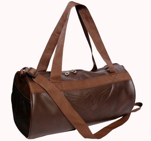 Auxter BROUN Leather Gym Bag