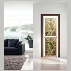 Powdered Coated Aluminium Door Forest Ivory Color