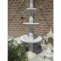 White 3 Tier Marble Stone Water Fountain