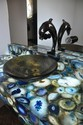 Blue Agate Powder Bathroom Counter