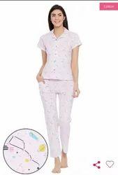 Clovia Printed Cotton Night Suits