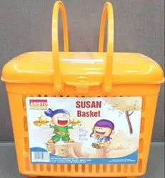 Multicolor Plastic Susan Basket, Size/Dimension: Mini