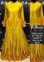 Ladies Yellow Silk Long Kurti