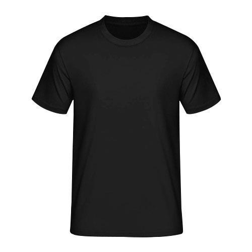 921ae6fb Mens Cotton Round Neck Black T Shirt, Size: S, M And L, Rs 110 ...