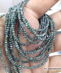 Blue Diamond Uncut Beads