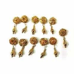 Fancy Metal Button, 100 Pieces, Packaging Type: Packet