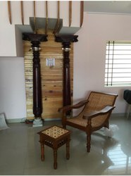 Antique Chetinad Wooden Pillar