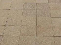 砂岩广场乳头棕色鹅卵石景观