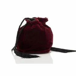 Plain Velvet Bag