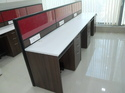 Work Stations with Cubicle Partition