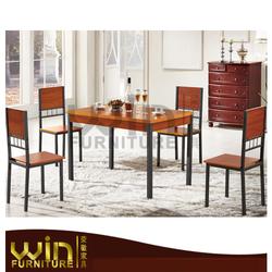 Metal Wood Dining Set1