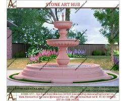 Pink Sandstone Fountain