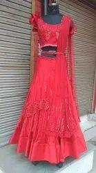 Bridal wear Designer Lehenga choli, Length: 40 Inch