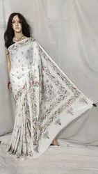 Sanghamitra Sarees Party Wear Art silk kantha stitched saree, With Blouse Piece, 6.5 m