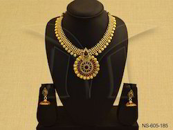 Bollywood Antique Necklace Set Jewellery