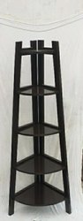 Brown Wooden Corner Shelf, Size: 16 To 8 Height 60, for Home