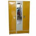 2 Doors Designer Mirror Steel Almirah