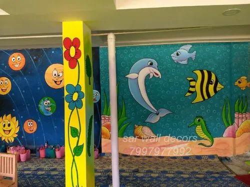 Kindergarten School Painting Works In Hyderabad And India In