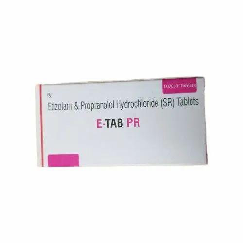 Etizolam And Propranolol Hydrochloride Sr Tablets