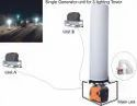 Portable Emergency Lighting Tower System With 1800 Silent Inverter Generator, Not Aska