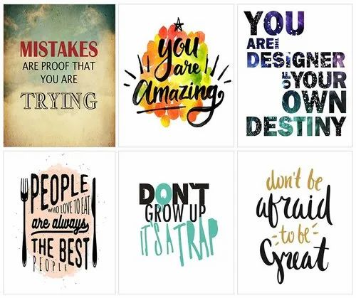 Naag Unframed Motivational Quotes Painting Rs 299 Pack New Anjani Art Gallery Id 20894619273