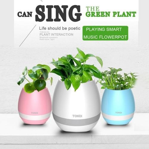 Smart Music Flower Pot With Bluetooth Speaker