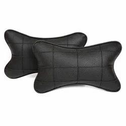 Pegasus Premium Rexine Black Car Neck Pillow