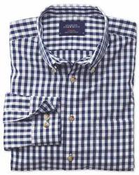 Men Cotton Casual Check Shirts, Size: Large