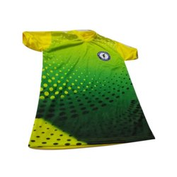 Polyester Half Sleeves Printed Sports T Shirt