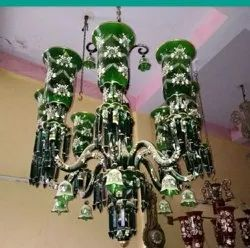 Candle-Style LED Custom Crystal Glass Chandelier, Model Name/Number: 275