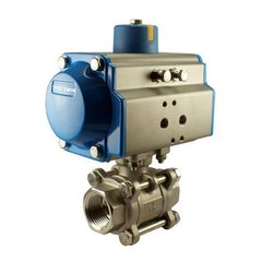 Pneumatic Operated SS Ball Valve