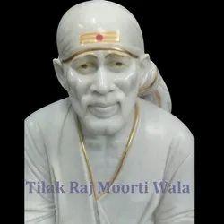 White Sai Baba Statue