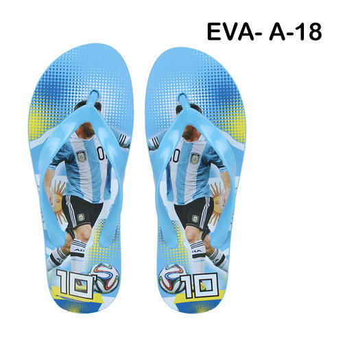 Men Sporter Blue Flip-Flops Slipper A