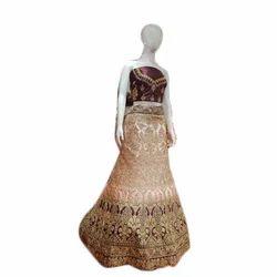 Tafta Semi-Stitched Banarasi Lehenga