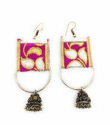 FE017 Handmade Fabric Earrings