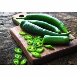 A Grade Fresh Green Chilly, For Cooking, Packaging Size: 20 Kg