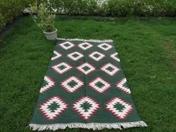Vimla International Woven Handloom Dhurrie Cotton Punja Area Rug, For Home, Size: 4 X 6 Feet