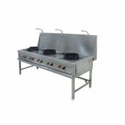 Aurpan 3 Chinese Commercial Gas Stoves, For Restaurant