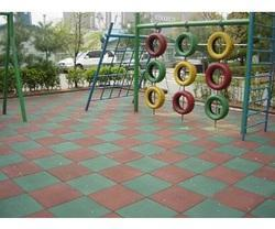 Asian Flooring Color Coated Rubber Floor