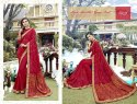 party Maroon Stylish Georgette Saree
