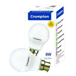 Round Crompton 9 Watt LED Bulb