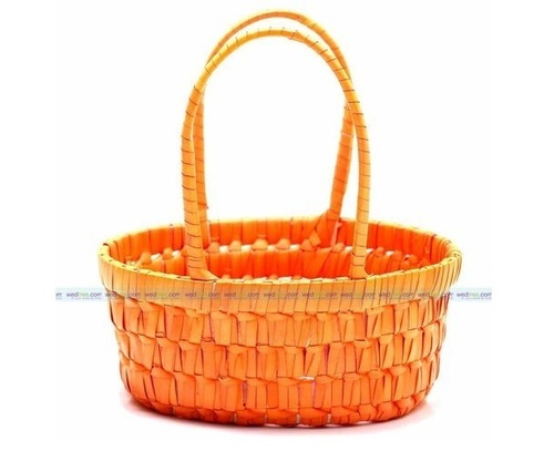 Palm Leaf Medium Pooja Basket प म ल फ ब स क ट Hasmi