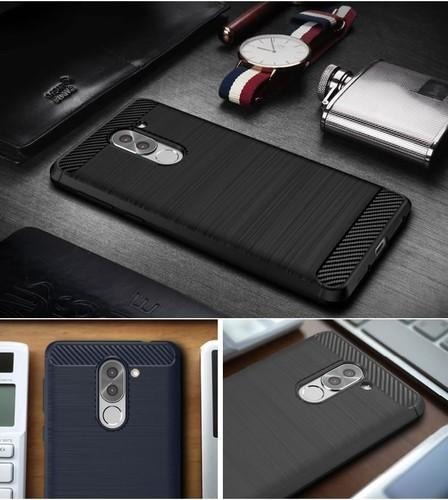 pretty nice 28f4a 6dcdc Rugged Armor Carbon Fiber Back Cover For Huawei Honor 6x