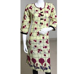 Casual Wear Flower Print Kurti