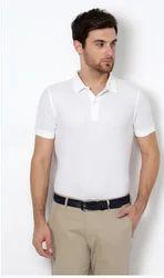 Men Cotton Van Heusen White T Shirt, Size: Large