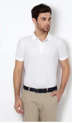5224fe2a Men Cotton Van Heusen White T Shirt, Size: Large, Rs 1499 /piece ...