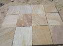 Camel Dust Buff Rectangular Sandstone Paving