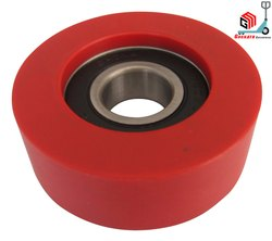 Red PU Coated Roller Wheels, Model Name/Number: Pu Coated Roller Wheel
