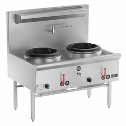 Silver Stainless Steel Chinese Range Burner, for Hotel