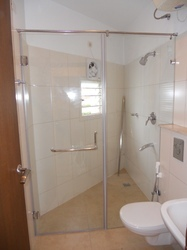 Toughened Glass Shower Partition